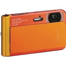 Sony Cyber Shot DSC TX30 18.2MP Digital Camera Orange Waterproof