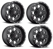 "20"" Fuel Revolver Black Wheel Rims Fits Lifted Ford Raptor Offroad 6x139 22X10"