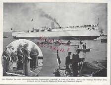 TRIEST, Werbung 1912, Stapellauf Tegetthoff Erzherzog Franz Ferdinand Blanca von