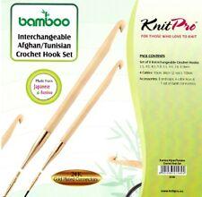 KnitPro Set of 8 Bamboo Tunisian Crochet hooks 22550