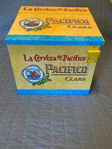 Pacifico Clara Cerveza Beer Metal Cooler Ice Chest - NEW - Unique!