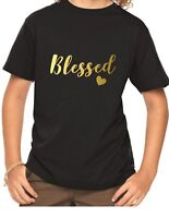 Youth Toddler Blessed T-Shirt Thanksgiving Tee Shirt Boys Girls Kids Happy Life