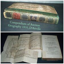 1810 Compendium of Acient Geography by Monsieur D' Anville with Map Antique Book