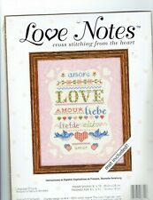 love notes cross stitch kit, mat included