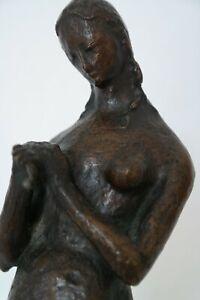 """Wundervolle Bronzeskulptur """"Eva"""" als Vollakt, Avantgarde Umkreis Lehmbruck, 1910"""