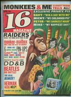 16 Magazine Apr. 1967 Monkees,Dave Clark Five,Paul Revere & The Raiders  MBX25