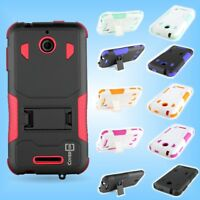 For HTC Desire 510 - Tough Hybrid Dual Layer Protector Cover Kickstand Case