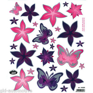 ADESIVO 21x24cm  Adesivi Farfalle e Fiori ,decorazioni