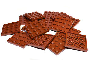 LEGO Large Plates BROWN # 4x4 # pack of 15 # flat baseplate # NEW *