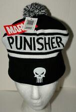 Marvel Comics Black Punisher Skull Winter Knit Cap Hat New Pom-Pom OSFM