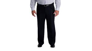 Haggar Premium Khaki Iron Free Classic Fit Pleated (Big &Tall : 40 x 34)