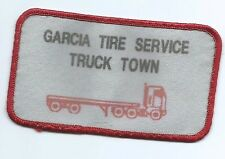Garcia Tire Service Truck Town employee patch 2-1/2 X 4-1/4 Oklahoma City OK