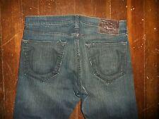 Authentic True Religion Mens Jeans Bobby Dark Blue Denim 33x34 36