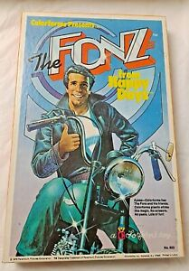 """Happy Days """"The Fonz"""" Colorforms Toy Magic Plastic Stickers,1978 MINT Condition!"""