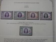 (BN22) GUINEA 1964 John F. Kennedy superb MNH set, MAJOR VARIETIES: MISSING BLUE
