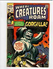 Where Creatures Roam No.5 Marvel 15 cent Gorgilla! 1971 Horror Comic 6.5