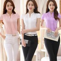Women's Chiffon OL Lady Work Formal Shirt Office Uniform Business Blouse Tops