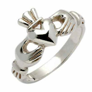 Sterling Silver Claddagh Ring - Erne - Made in Ireland - Assay Hallmarked