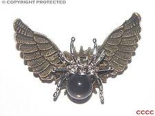 Steampunk broche insignia con Pin Búho Alas Plata Araña Gótico Harry Potter