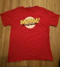 BIG BANG THEORY - BAZINGA T SHIRT - SHELDON COOPER - SIZE LARGE