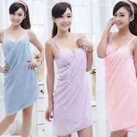 Women Fast Drying Wearable Bath Towel Shower Bath SPA Wrap Body BeachBathrobe*`