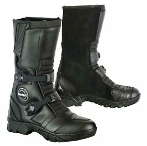 Leather Off Road Boots Motorbike Motorcycle Riding Shoes Road Safety Armour