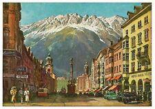Postcard Austria Innsbruck Maria-Theresien-Strasse Unused