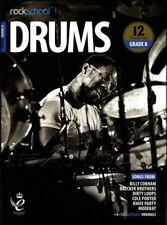 Rockschool Drums Grade 8 2018-2024 Sheet Music Book/Audio Exercises Tests Songs