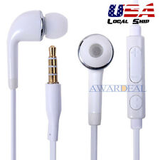 3.5 Mm Jack Earbud Handfree Universial Earphone Mic Volume Control For Samsung #