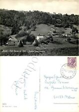 Cartolina di Arsiè, panorama e covoni di fieno - Belluno, 1971
