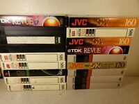 Lot of 18 Used VHS Tapes- Sold as Blank Tapes (3)