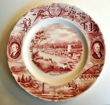 Vintage Johnson Bros. England Meier &  Frank Co. Oregon Pink Souvenir Plate