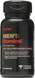 GNC Men's Staminol, 60 Capsules, Supports Normal Prostate Function and...