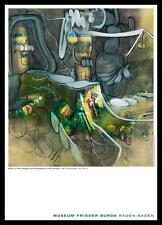 Matta L Honni Aveuglant Poster Bild Kunstdruck mit Alu Rahmen in schwarz 59x84cm