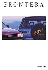 Opel Frontera Prospekt 3/93 brochure Autoprospekt Auto PKWs Geländewagen 1993