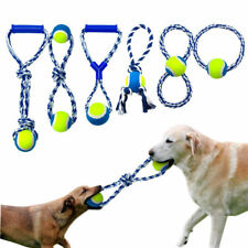 Cotton Rope Braided Dog Ball Toy Teeth Clean Exercise Dog Bite Play Ball Toys