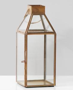 Small Square Standard Gold Lantern