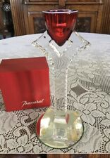 Flawless Exquisite Baccarat Crystal Candle Holder. Color-red On Top.