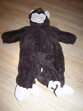 Infant Size 12 Months Miniwear Plush Brown Monkey Chimp Halloween Costume EUC