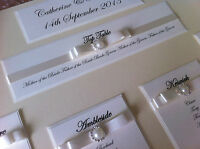 PERSONALISED A3 / A2 DIAMANTE AND PEARL WEDDING SEATING PLAN