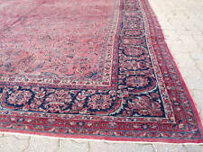 Antique & Old circa 1880, hand knotted, 9 x 18 feet
