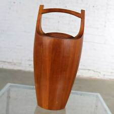 Monumental Dansk Staved Teak Bucket Style Ice Bucket by Jens Quistgaard