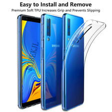 TPU Silicone Crystal Case for Samsung Galaxy A7 (2018) Transparent Soft Cover