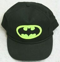 DC Comics Batman Black Yellow Cotton Hat Cap Adult Men's Snapback Movie Hero