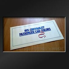 UNCIRCULATED 1975 Chevrolet Passenger Car Exterior Color Selection Guide