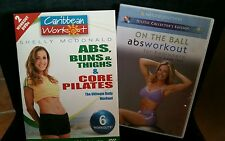 lot of 3 Caribbean Workout Shelly McDonald (6 Workouts) LIKE NEW + on the ball