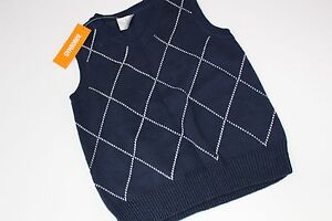Spring Dressy Gymboree Sweater Vest Navy Boys Size XS 4 NEW NWT