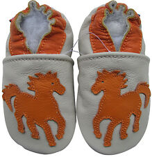 carozoo horse cream 2-3y soft sole leather toddler shoes