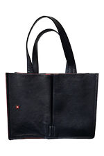 *BALLY* VINTAGE BLACK ROXANA LEATHER SHOPPER BAG