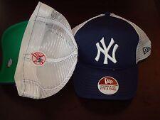 NEW YORK YANKEES TRUCKER  NEW ERA FITTED SZ 7 5/8  HAT CAP RETRO VINT SCRIPT